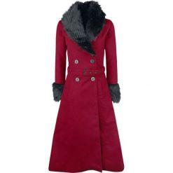 Rockabella Bianca Coat Płaszcz damski czerwony. Czerwone płaszcze damskie z futerkiem marki Cropp, na zimę, l. Za 399,90 zł.