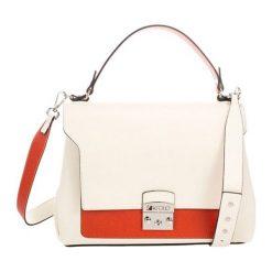 Torebki klasyczne damskie: Skórzana torebka w kolorze beżowym – (S)30 x (W)37 x (G)14 cm