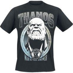 T-shirty męskie z nadrukiem: Avengers Infinity War – Thanos T-Shirt czarny