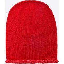Napapijri - Czapka. Szare czapki zimowe damskie marki Napapijri, z dzianiny. W wyprzedaży za 119,90 zł.