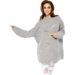 Swetry klasyczne damskie: Sweter w kolorze jasnoszarym