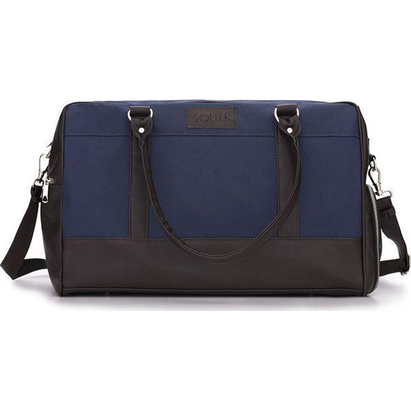 94869d1eb35a8 Męska torba sportowy styl Solier FRASER niebieski - Niebieskie torby ...