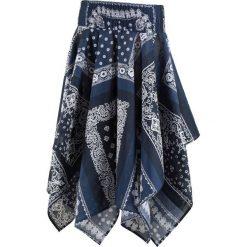 Spódnica ciążowa bawełniana bonprix niebieski wzorzysty. Niebieskie spódnice ciążowe marki bonprix, na lato, z bawełny, moda ciążowa. Za 44,99 zł.