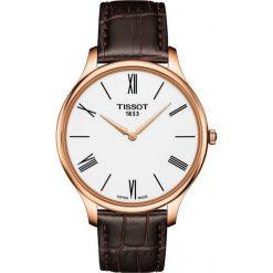 RABAT ZEGAREK TISSOT T-Classic T063.409.36.018.00. Białe zegarki męskie TISSOT, ze stali. W wyprzedaży za 1346,40 zł.