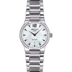 RABAT ZEGAREK CERTINA DS SPEL LADY ROUND C012.209.61.117.00. Białe zegarki damskie CERTINA, ze stali. W wyprzedaży za 5953,20 zł.