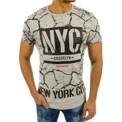 T-shirty męskie z nadrukiem: T-shirt męski z nadrukiem szary (rx2222)