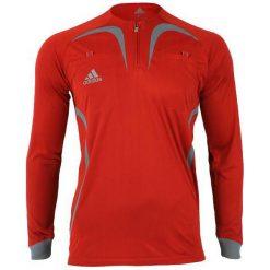 Adidas Bluza sędziowska męska czerwona r.S (069071). Czerwone bluzy męskie marki KALENJI, m, z elastanu, z długim rękawem, długie. Za 24,60 zł.