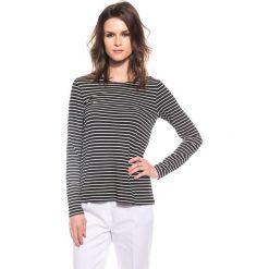 Czarno-biała bluzka z długim rękawem BIALCON. Białe bluzki damskie marki BIALCON, z elastanu, z okrągłym kołnierzem, z długim rękawem. W wyprzedaży za 28,00 zł.
