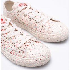 Converse - Tenisówki dziecięcee. Szare buty sportowe dziewczęce Converse, z gumy, z okrągłym noskiem, na sznurówki. Za 219,90 zł.