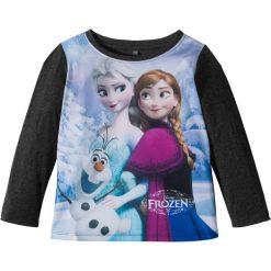 """Odzież dziecięca: Koszulka z długim rękawem """"Kraina lodu"""" bonprix szary melanż z nadrukiem"""