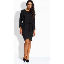 Długie sukienki: Elegancka kobieca sukienka czarna