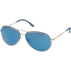 """Okulary przeciwsłoneczne damskie: Okulary przeciwsłoneczne """"S8299 58502B"""" w kolorze srebrno-niebieskim"""