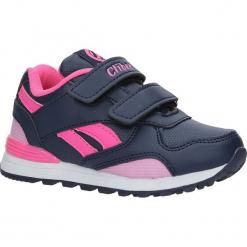 Granatowe buty sportowe na rzepy ze skórzaną wkładką Casu K-185. Szare buciki niemowlęce Casu, na rzepy. Za 59,99 zł.
