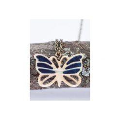 Drewniany naszyjnik motyl. Brązowe naszyjniki damskie Bewoody. Za 80,00 zł.