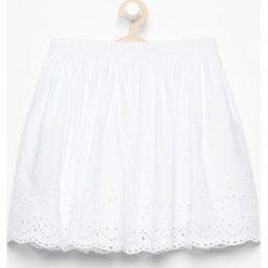 Spódniczki dziewczęce: Bawełniana spódnica z haftem – Biały