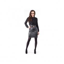 Ołówkowa spódnica eko skóry SL6001. Czarne spódnice wieczorowe marki Soleil, l, ze skóry, ołówkowe. Za 109,00 zł.