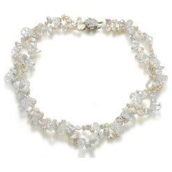 Naszyjniki damskie: Naszyjnik z perłami i kryształami – (D)50 cm