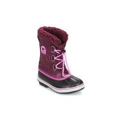 Śniegowce Dziecko Sorel  YOOT PAC NYLON. Fioletowe buty zimowe chłopięce Sorel, z nylonu. Za 255,99 zł.
