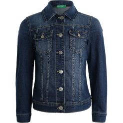 Benetton JACKET ZBASIC Kurtka jeansowa blue. Niebieskie kurtki chłopięce marki Benetton, z bawełny. Za 129,00 zł.