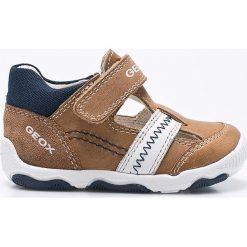Geox - Sandały dziecięce. Szare sandały męskie skórzane Geox, z okrągłym noskiem. W wyprzedaży za 179,90 zł.