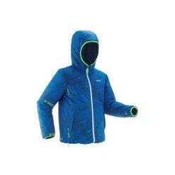 Kurtka SKI-P 100 WARM. Niebieskie kurtki chłopięce przeciwdeszczowe WED'ZE. Za 129,99 zł.