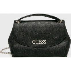 Guess Jeans - Torebka. Czarne torebki klasyczne damskie Guess Jeans, z aplikacjami, z jeansu, średnie. Za 559,90 zł.