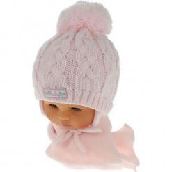 Czapka niemowlęca z szalikiem CZ+S 131C. Szare czapeczki niemowlęce Proman. Za 39,76 zł.