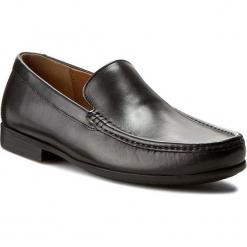Mokasyny CLARKS - Claude Plain 261243127 Black leather. Czarne mokasyny męskie Clarks, z materiału. W wyprzedaży za 269,00 zł.