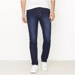 Dżinsy slim ze streczem. Szare jeansy męskie slim marki La Redoute Collections. Za 176,36 zł.