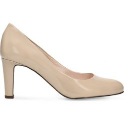 Czółenka FRIDA. Brązowe buty ślubne damskie marki Gino Rossi, z lakierowanej skóry, na szpilce. Za 224,95 zł.