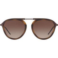 Emporio Armani - Okulary. Szare okulary przeciwsłoneczne męskie aviatory marki Emporio Armani, l, z nadrukiem, z bawełny, z okrągłym kołnierzem. Za 629,90 zł.