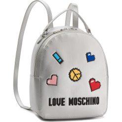 Plecak LOVE MOSCHINO - JC4070PP15LH0902  Argento. Szare plecaki damskie marki Love Moschino, ze skóry ekologicznej, klasyczne. W wyprzedaży za 429,00 zł.