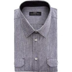 Koszula ALESSIO 15-01-62-K. Brązowe koszule męskie na spinki marki QUECHUA, m, z elastanu, z krótkim rękawem. Za 169,00 zł.