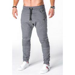 Spodnie męskie: SPODNIE MĘSKIE JOGGERY P709 – SZARE