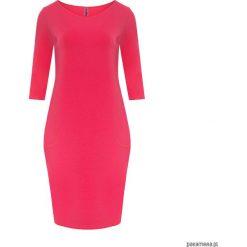 Sukienki dresowe: Sukienka taliowana z kieszeniami fuksja