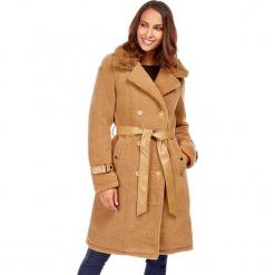 Płaszcz w kolorze beżowym. Brązowe płaszcze damskie marki Snowie Collection, s, ze skóry. W wyprzedaży za 227,95 zł.