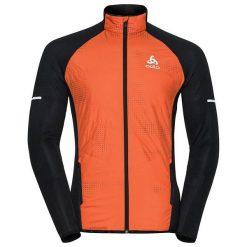 Kurtki sportowe męskie: Odlo Kurtka męska Jacket hybrid seamless Irbis C/O pomarańczowo-czarna r. L (370982)