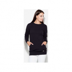 Bluzka K289 Czarny. Czarne bluzki z odkrytymi ramionami KATRUS, m. Za 129,00 zł.