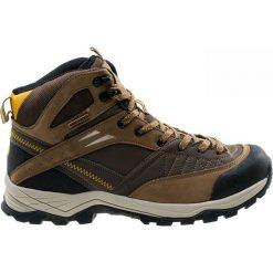 Buty trekkingowe męskie: ELBRUS Buty męskie Delen MID WP Dark Brown / Corn / Black r. 45