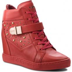 Sneakersy CARINII - B4395  H54-000-000-B88. Czerwone sneakersy damskie Carinii, z materiału. W wyprzedaży za 249,00 zł.