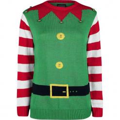 Ugly Christmas Sweater Christmas Elf Sweter z dzianiny zielony. Zielone swetry klasyczne damskie Ugly Christmas Sweater, l, z dzianiny. Za 121,90 zł.