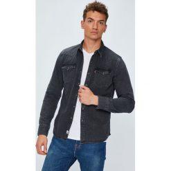 Levi's - Koszula. Szare koszule męskie casual marki Guess Jeans, l, z aplikacjami, z bawełny, z klasycznym kołnierzykiem, z długim rękawem. W wyprzedaży za 259,90 zł.