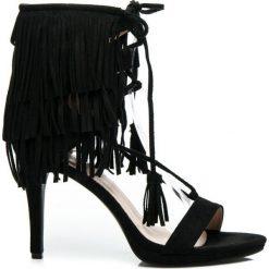 Rzymianki damskie: Brigitte – czarne sandałki w stylu BOHO