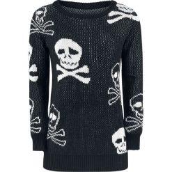 Bluzy rozpinane damskie: Fashion Victim Pirats Sweater Bluza damska czarny