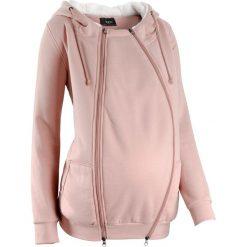 Bluza rozpinana ciążowa z wstawką niemowlęcą na nosidełko i miękką spodnią stroną bonprix stary jasnoróżowy melanż. Czarne bluzy ciążowe marki Reserved, l, z kapturem. Za 149,99 zł.