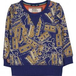 """Bluza """"Tapes"""" w kolorze granatowo-beżowym. Niebieskie bluzy chłopięce marki 4FunkyFlavours Kids. W wyprzedaży za 82,95 zł."""