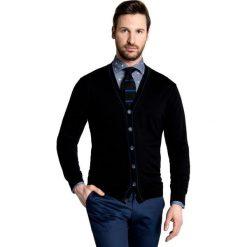 Sweter IGNAZIO SWC000045. Czarne swetry rozpinane męskie Giacomo Conti, m, z wełny, eleganckie. Za 299,00 zł.