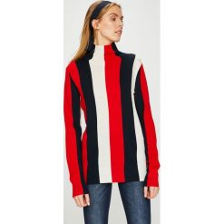 Calvin Klein - Sweter. Szare golfy damskie marki Calvin Klein, l, z dzianiny, z krótkim rękawem. Za 699,90 zł.