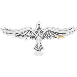 Piękna Broszka Srebrna - srebro 925. Szare broszki damskie marki W.KRUK, na spotkanie biznesowe, srebrne. Za 349,00 zł.