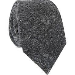 Bawełniany Krawat KWSR010014. Szare krawaty męskie Giacomo Conti, paisley, z bawełny. Za 169,00 zł.